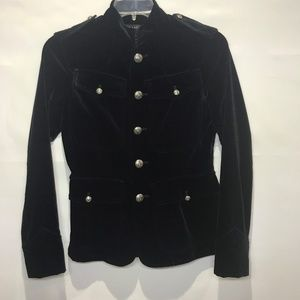 Ralph Lauren Black Velvet Military Blazer 8